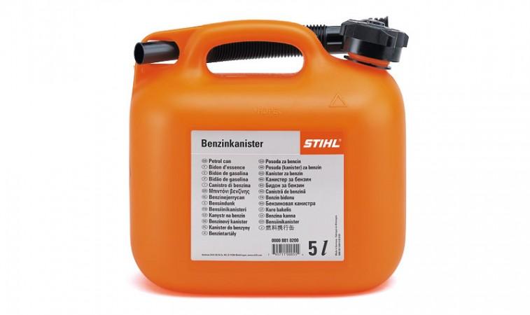 Kanister na benzín - 5 l, oranžový
