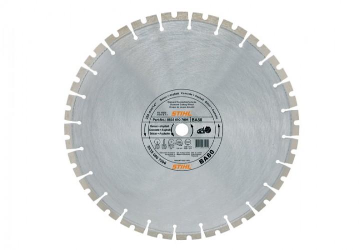 Diamantový rozbrusovací kotúč - Tvrdé horniny/betón (SB) 300 mm D-SB80