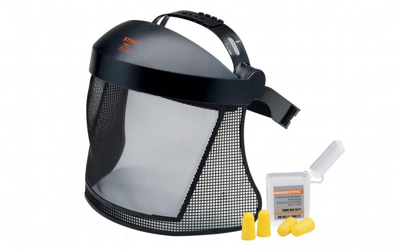 Ochrana tváre, krátke prevedenie, s nylonovou mriežkou