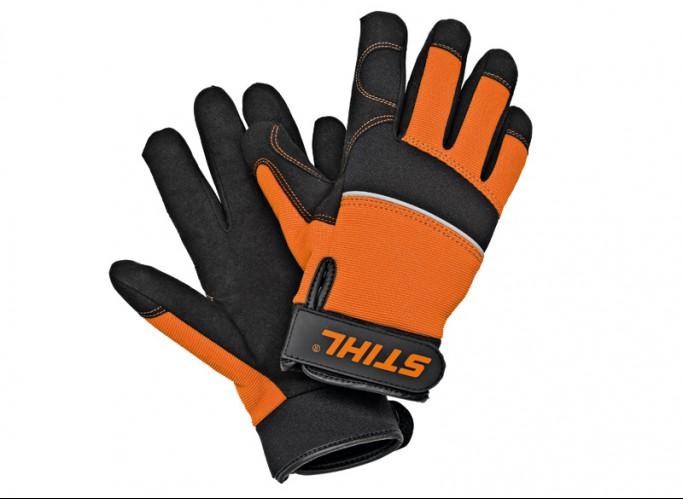 CARVER - profesionálne rukavice pre prácu s motorovou pílou, bez ochrany proti porezaniu L