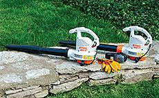Elektrické fúkače a záhradné vysávače