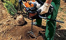 Vŕtacie nástroje pre pôdny jamkovač