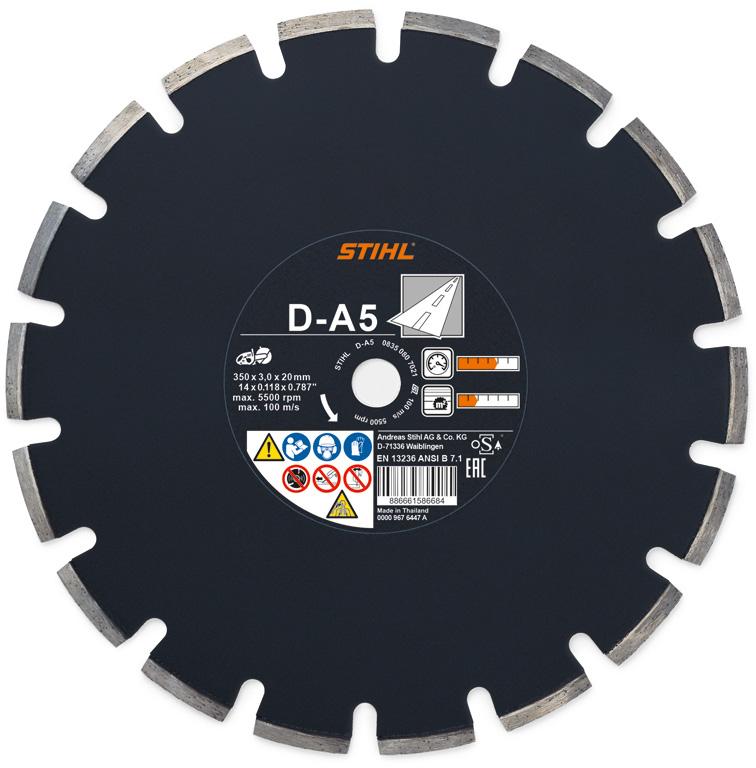 Diamantový rozbrusovací kotúč - Asfalt (A) D-A5 400 mm