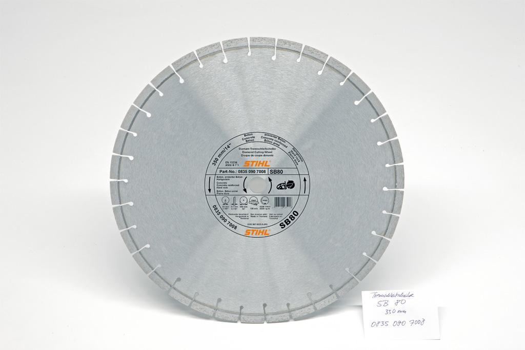 Diamantový rozbrusovací kotúč - Liatinové potrubie (G), D-G80, 350mm
