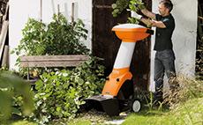 Drviče konárov a záhradného odpadu